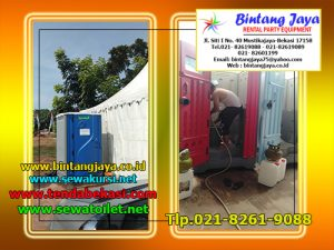sewa toilet portable warna-warni